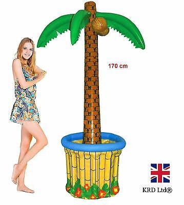 6ft INFLATABLE PALM TREE COOLER Blow Up Summer Hawaiian Tropical Beach Party UK