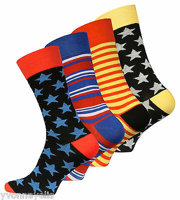 "4 oder 8 Paar Herren Trend-Socken ""Stars and Stripes"" Original Vincent Creation®"