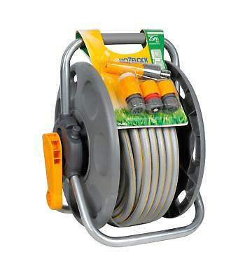 Hozelock 2 In 1 Freestanding Garden Hose Reel Wall Mounted Floor Standing 25M