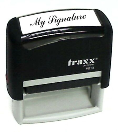Custom SIGNATURE Self-Inking Rubber Stamp Traxx 9013