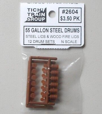 Used, 55 Gallon Steel Drums N SCALE LAYOUT DIORAMA TICHY TRAINS 2604 for sale  Egg Harbor Township