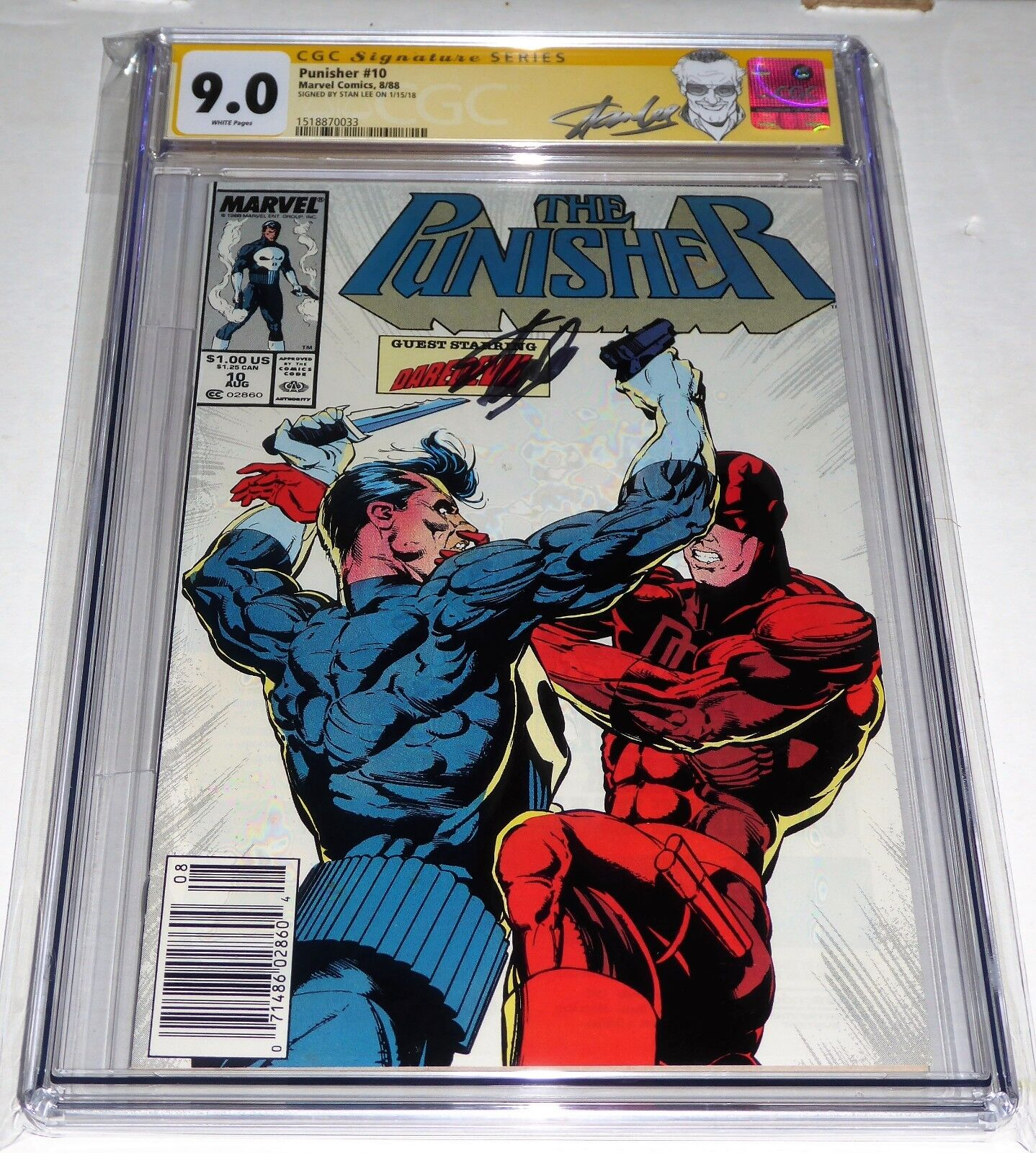 Punisher #10 CGC SS Signature Autograph STAN LEE Daredevil Appearance Comic Book
