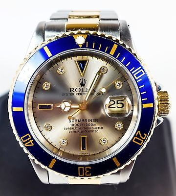 1999 Men's Rolex 40mm Oyster Perpetual Submariner Wrist Watch - Model 16613