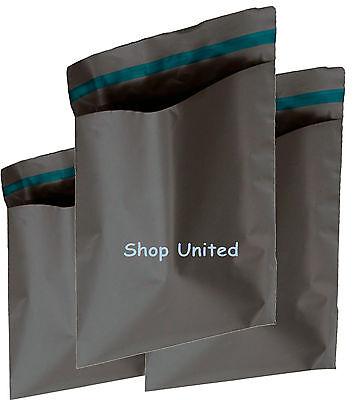 100 MIXED SIZES Grey Postage/Poly/Postal Mailing Bags/Sacks/Envelopes Self Seal