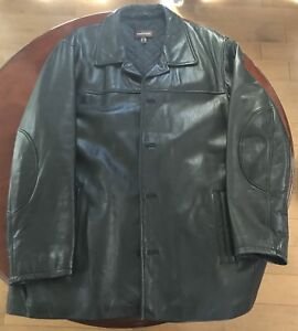 XL Daniel leather winter coat