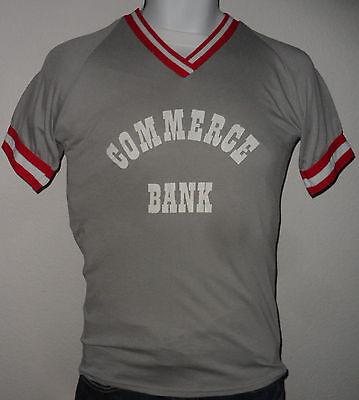 Vintage 1980S Commerce Bank 4 Random Venus Athletic Wear Baseball Jersey Shirt S