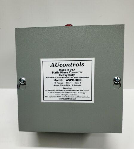 Static Phase Converter, Runs 1-3 HP, 3-Phase Motors 230V w/Single Phase Power.