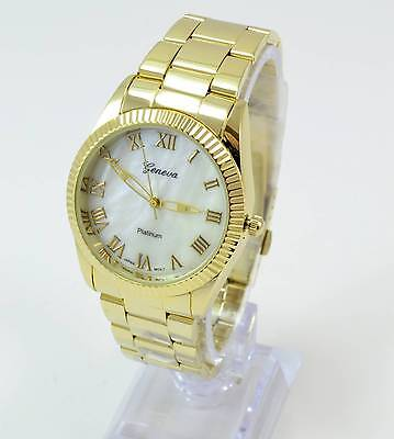 Women's Classic Gold Plated Round Fashion Wrist Watch New