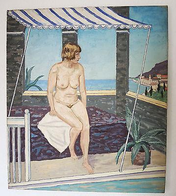 """Josef Schultz (1892-1972) """"Sommer am Meer""""  Öl/Lwd. um 1930 Neue Sachlichkeit"""
