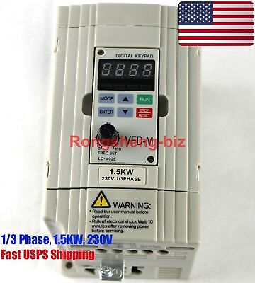 New Vfd015m21a Inverter 1.5kw 230v 13 Phase Frequency Converter For Delta