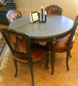 Vintage Brown and gray dinning table