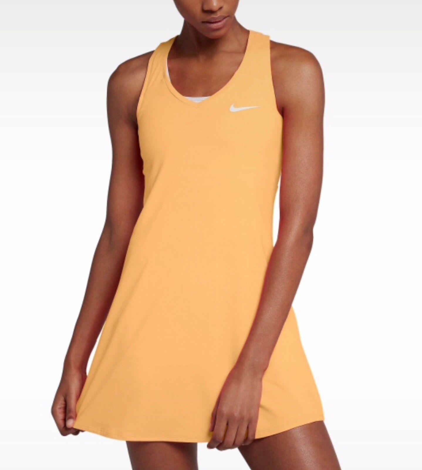 Womens NIKE COURT PURE TENNIS DRESS  872819-843 Small