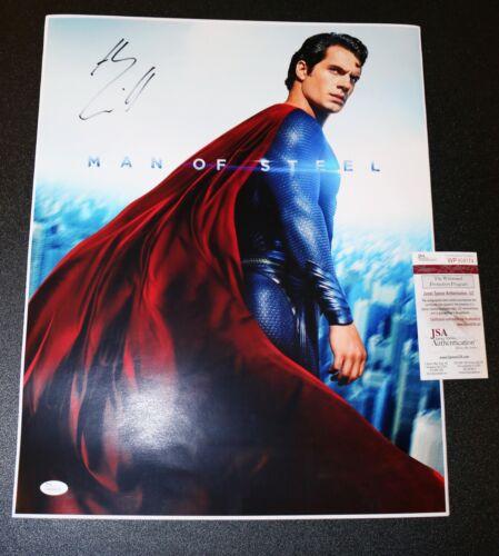 ! Henry Cavill autographed 16x20 Superman, Man of Steel poster JSA PSA WITNESS !