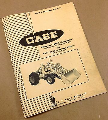 J I Case 42 Loader For Model 530 Sl Tractor Parts Catalog Manual New Print