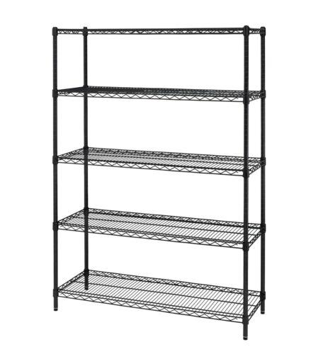 "Hyper Tough 16""D x 48""W x 72""H 5 Shelf Heavy Duty Wire Shelving Storage Rack  FR"