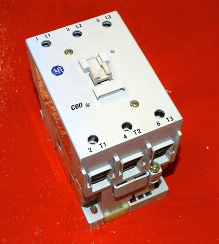 Allen Bradley Contactor, 100-C60*00 Series B, 120 Volt AC coil, 100 Amp, 3-pole