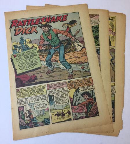 1949 six page cartoon story ~ RATTLESNAKE DICK BARTER