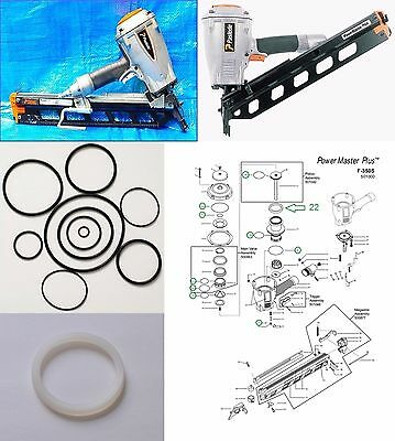 Paslode Framing Nailer F350-S O-ring and 402011 Cylinder Seal Rebuild Kit