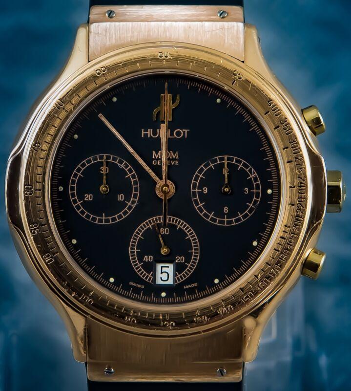 "HUBLOT BIG BANG CHRONO – EURO 16,250.00 "" 18K GOLD REF; 1621.3 – START $ 1,00 - watch picture 1"