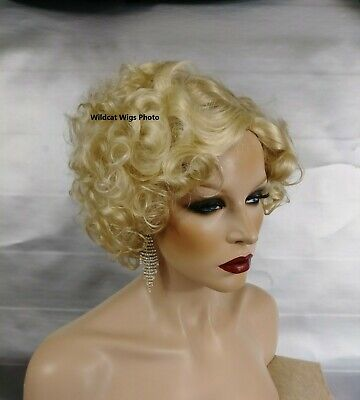 1930's Flapper QUALITY wig .. Like Madonna Breathless in Dick Tracy movie NICE!  (Movie Wigs)