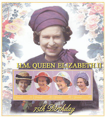 (70553P) Grenada MNH Queen 75th Birthday minisheet 2001 unmounted mint