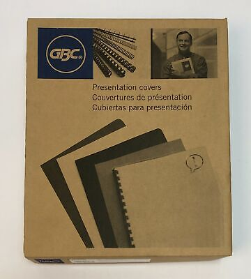 Gbc Clearview Presentation Binding Covers Premium Plus Frost 11 X 8.5 In 100 Pcs