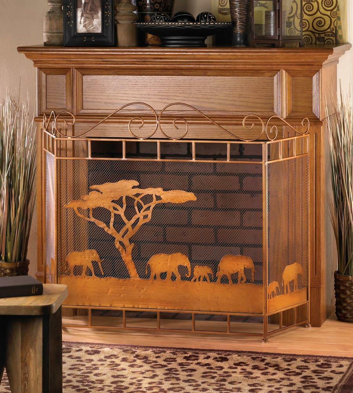 VERDUGO GIFT CO Wild Savannah Fireplace Screen