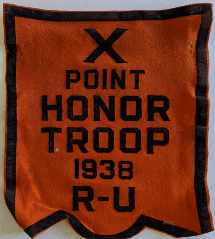 1938 10 Point Honor Troop Round Up Felt Award Vintage Boy Scouts of America BSA