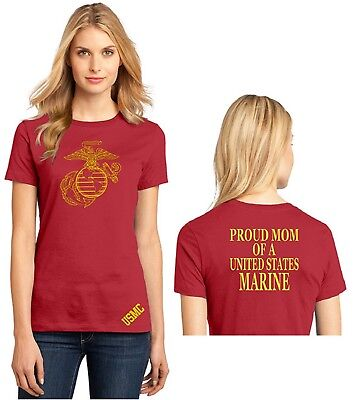 USMC EGA Marine Corp Mom Ladies T Shirt Graduation Gift Military XS-4X