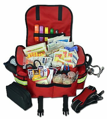 Lightning X Small First Responder Emt Trauma Bag Stocked First Aid Fill Kit B Rd
