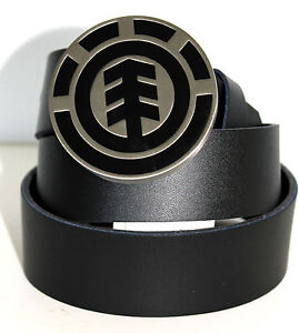 Mens ELEMENT Icon Leather Look Belt & Removable Buckle. One Size. NWT. RRP$39.95
