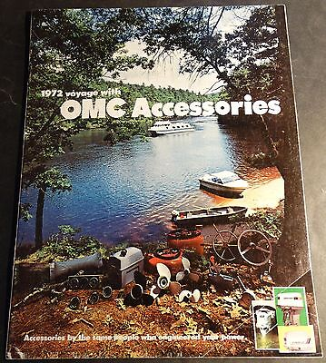 VINTAGE 1972 OMC BOAT & MOTOR ACCESSORIES SALES BROCHURE 24 PAGES (712)