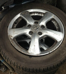 HONDA CIVIC ALLOY WHEELS WITH TYRES 16INCH 205.55.16 2007 BREAKING FOR SPARES