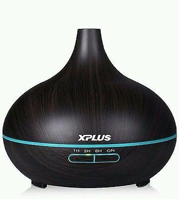 XPLUS 300ml Aroma Essential Oil Diffuser Wood Grain Cool Air Humidifier