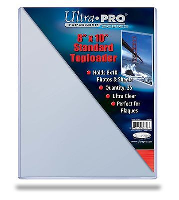 - 10 8x10 ULTRA PRO RIGID TOPLOADERS PHOTO HOLDER SLEEVES 8 x 10 Top Load Holders