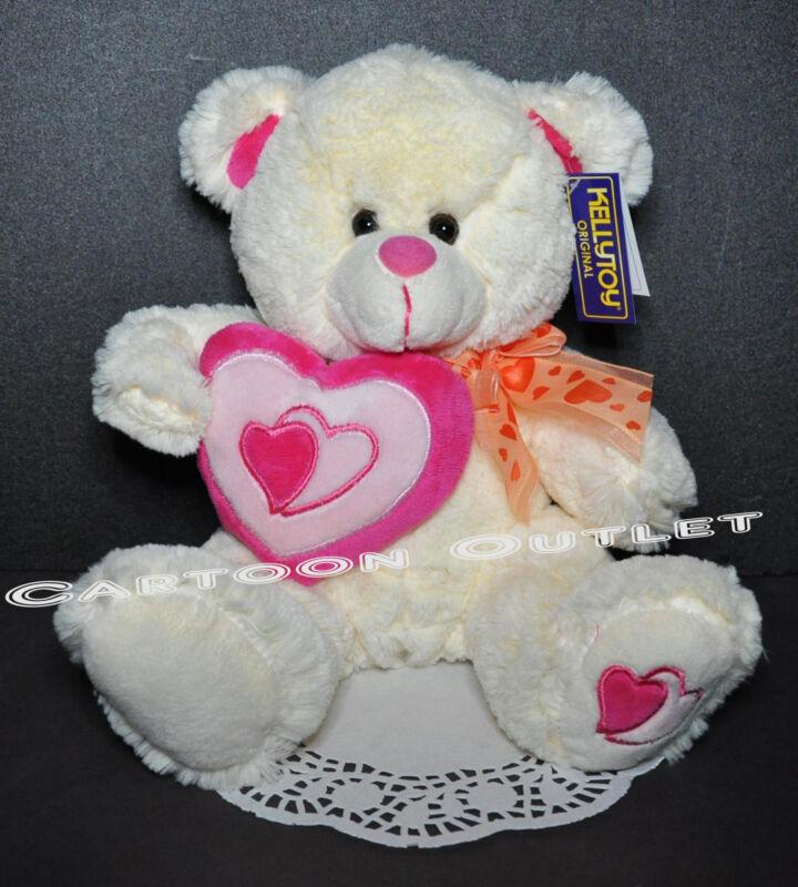 """VALENTINE PLUSH DOLL BEAR STUFFED TEDDY BEAR LOVE TOY NWT 11"""" BIRTHDAY GIFT CUTE"""