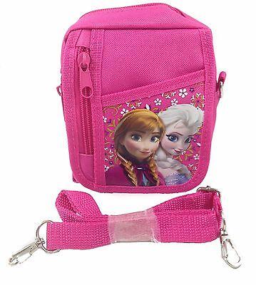 Disney Frozen Pink Elsa Wallet Camera Pouch Bag Purse with Shoulder Strap - Frozen Camera
