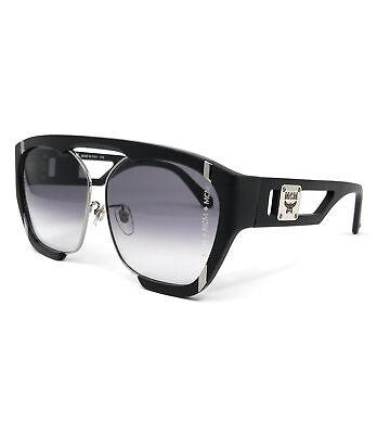 MCM Sunglasses MCM672SA 001 Black Modified Rectangle Unisex 62x12x140