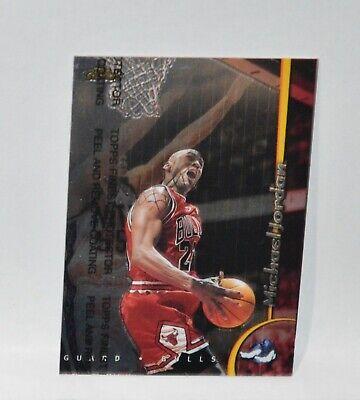 Michael Jordan 🏀 1998-99 Topps Finest Basketball Card #81 With Coating Bulls