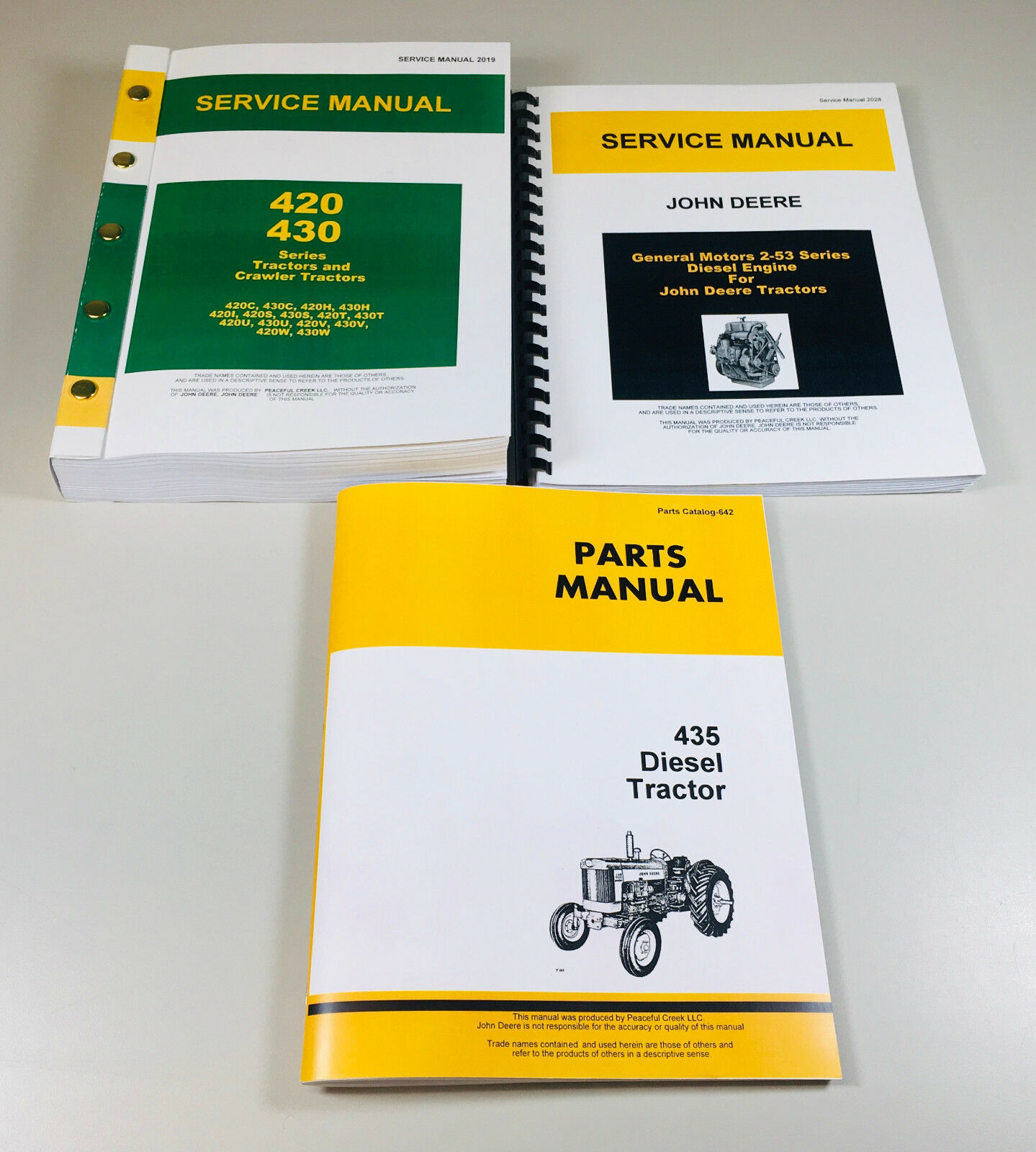 Service Manual Set For John Deere 435 Diesel Tractor Repair Shop Wiring Diagram Categories