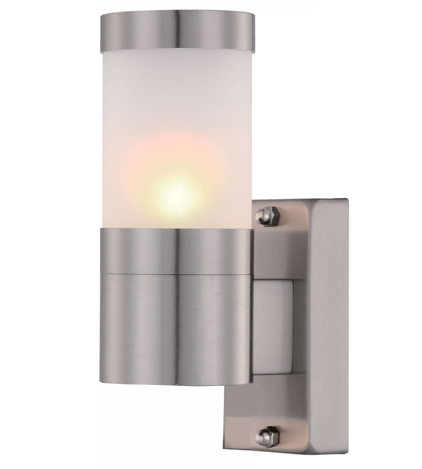 Single Stainless Steel Wall Light Outdoor With Frosted