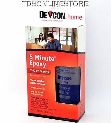 Devcon 5 Min Epoxy (Devcon 5 Min. Epoxy Great For All Crafting Dries Clear & Tintable 8.5oz)