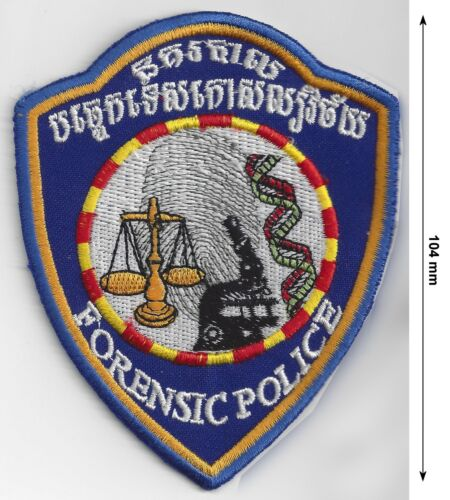 Cambodia Forensic Police Detective Officer Sleeve Patch Genuine Authentic New