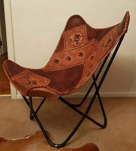 Leather chair from Sri Lanka