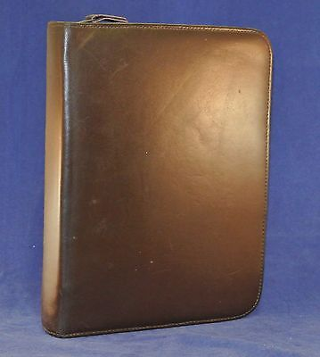 1.5 Rings Classic Leather Franklin Quest Covey Binder - Brown