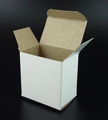 White Reverse Tuck Folding Box 3 X 2 X 3 Small Gift Packaging Carton 10 Pc