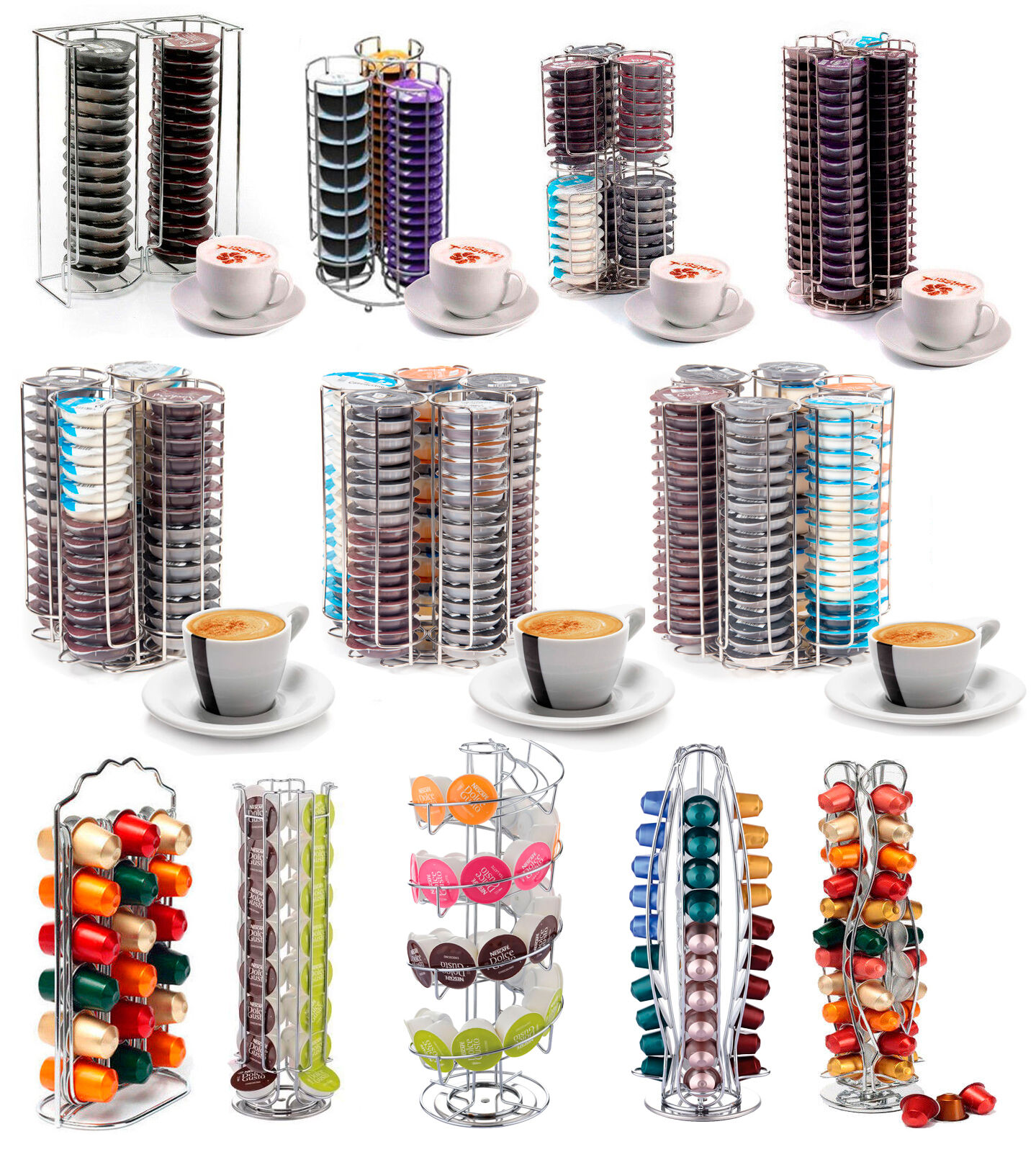 porte capsules caf tournant pour tassimo dolce gusto nespresso. Black Bedroom Furniture Sets. Home Design Ideas