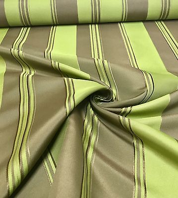 LUXURIOUS TEMPO BEIGE GREEN DAMASK FABRIC 2.5 METRE