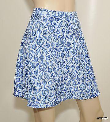 Nwt $99 Michael Kors Lined A-Line Mini Skirt Royal Blue 6