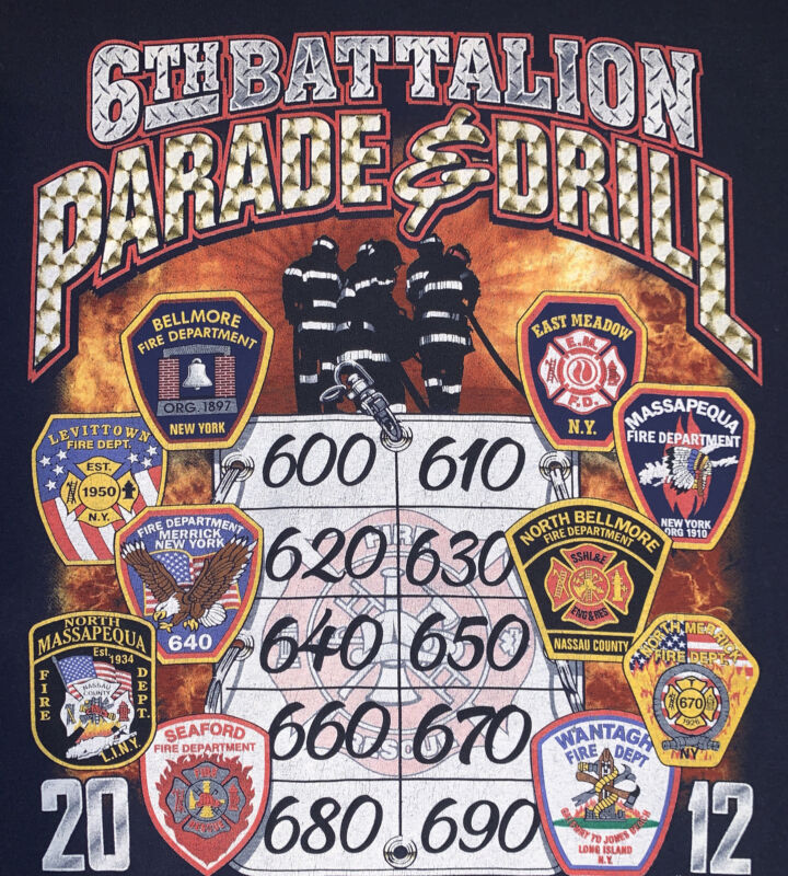 Beth Page Fire Department Nassau County Long Island NY T-Shirt Sz 2XL FDNY